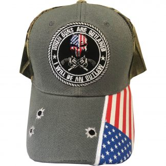 grey if guns are outlawed punisher guns 2a cap for sale