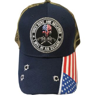when guns are outlawed 2A cap in navy / camo