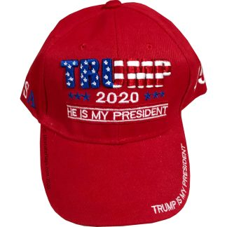 buy red trump cap 2020 he is my president hats for sale in red