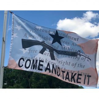 2nd amendment gun come and takeit flag
