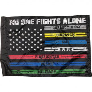 1st responder flag no one fights alone