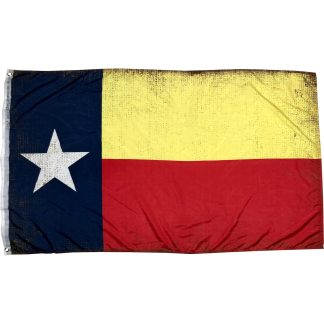 TX State Flag antiqued 3x5 flag