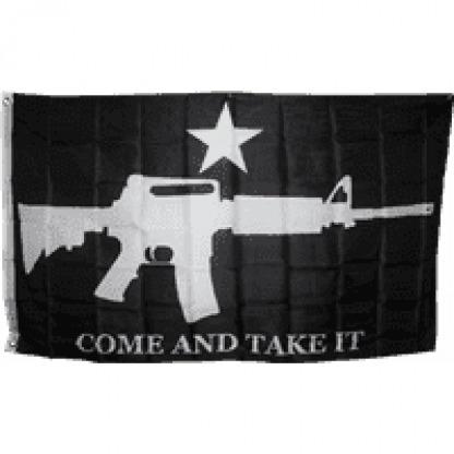 m4 black come and take it flag