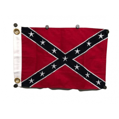 rebel cotton embroidered flag 12x18 inch