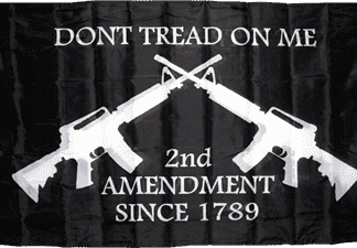 2nd amendment flag dont tread on me black flags for sale