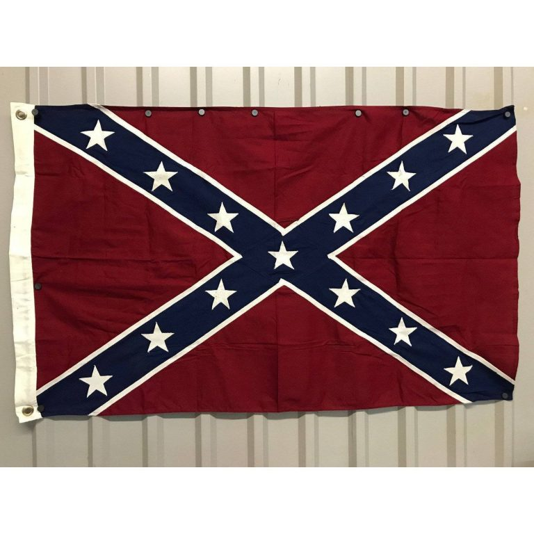 rebel flag antiqued cotton flags for sale 3x5