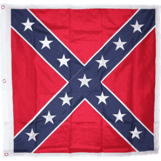 rebel battle flag square