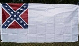 stainless banner 2nd national confederate flag for sale