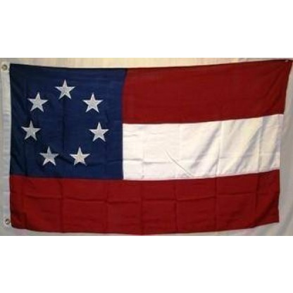 7 stars and bars flag nylon embroidered