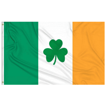 ireland flag with shamrock clover